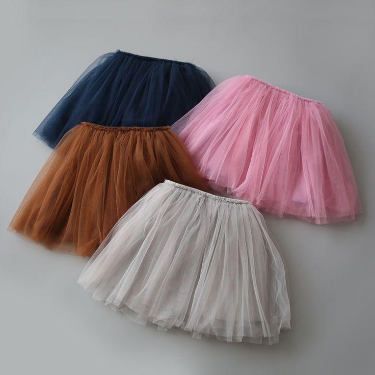2017 Tutu Skirts For Girls Skirt Kids Princess Tulle Lovely Ball Gown Pettiskirt Children Clothing