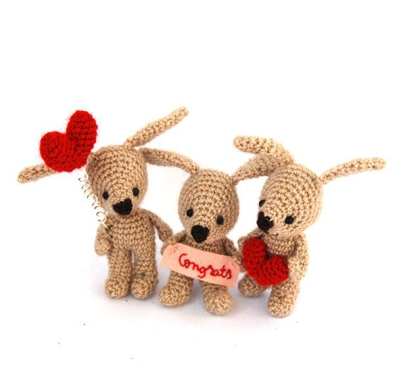 customize love bunny amigurumi little by tinyworldbycrochAndi, $19.86