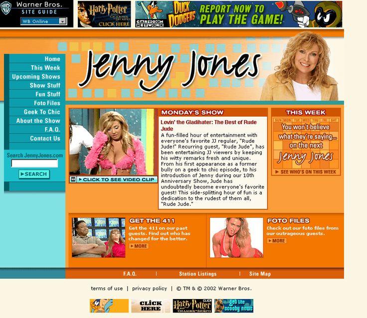 Jenny Jones website in 2002