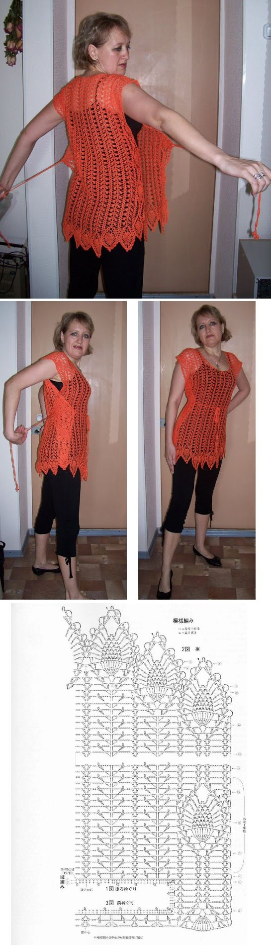Crochet tunic! - really original! :: I wonder if I could do a wrap skirt similar to this?