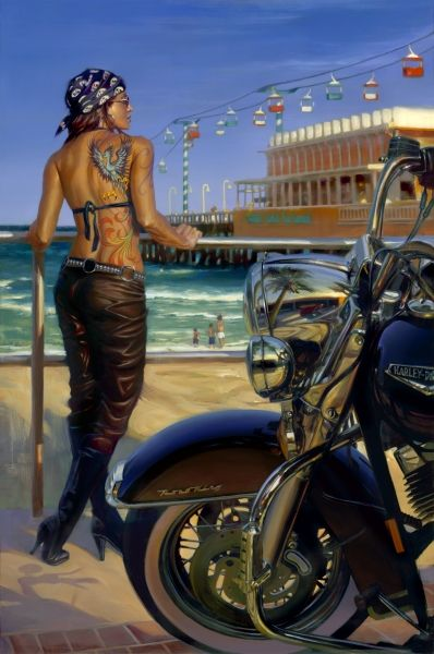 """Daytona Ink"" - Limited Editions - All Artwork - David Uhl | Fine Art World"