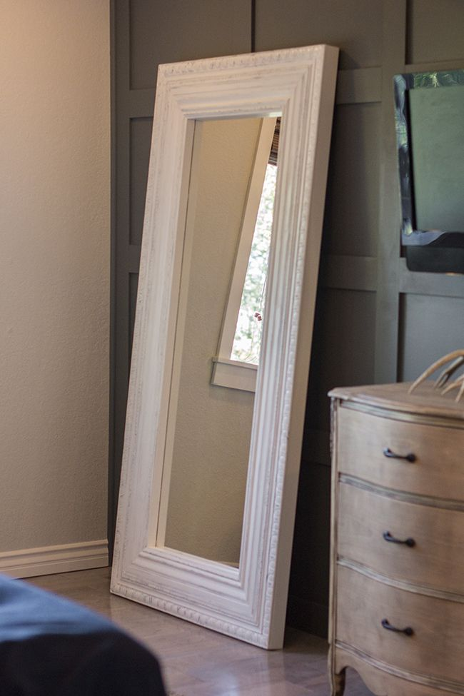 Jenna Sue: Master Makeover: DIY Floor Mirror—from Ikea to Vintage