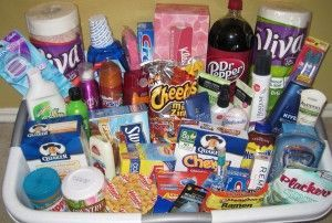 great gift baskets for college kids or child moving away from home