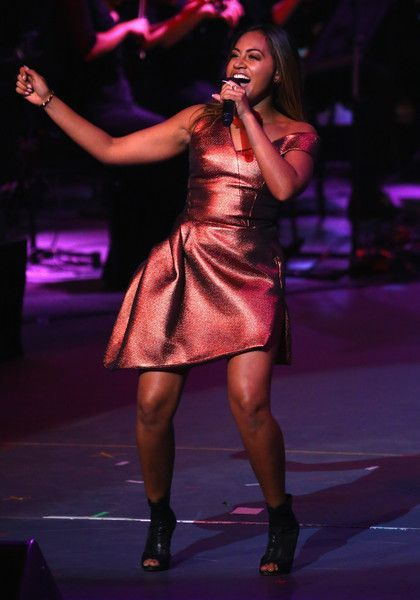 Jessica Mauboy Photos Photos - Jessica Mauboy performs during the Opening Ceremony ahead of the ICC 2015 Cricket World Cup at the Myer Music Bowl on February 12, 2015 in Melbourne, Australia. - ICC 2015 Cricket World Cup Opening Ceremony