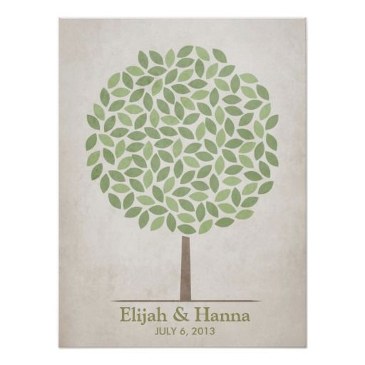 Ask guests to sign a leaf on this tree, instead of signing a line in a traditional guestbook. This will leave you with a beautiful piece of artwork that you can frame and enjoy for many years!