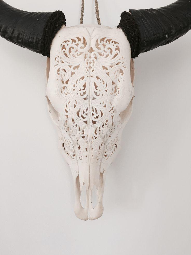 Carved Cow Skull #carvedcowskull www.oceannomadaustralia.com.au