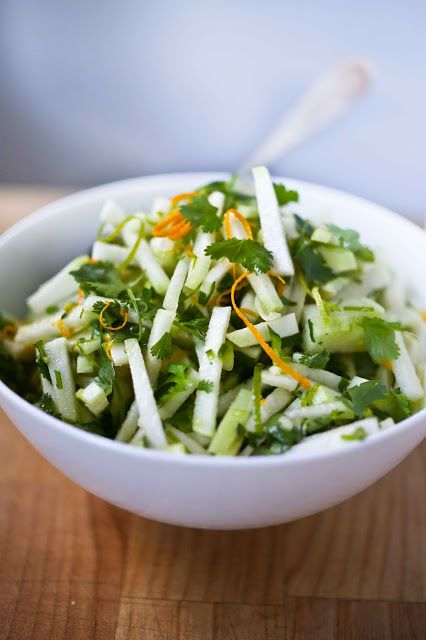 Wondering what to do with Kohlrabi? This crunchy refreshing Kohlrabi Salad with Cilantro and Lime...is vegan and gluten free!