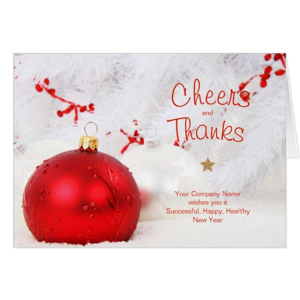 Cheers Thanks Company Christmas Cards Custom Stag #cards #christmascard #holiday