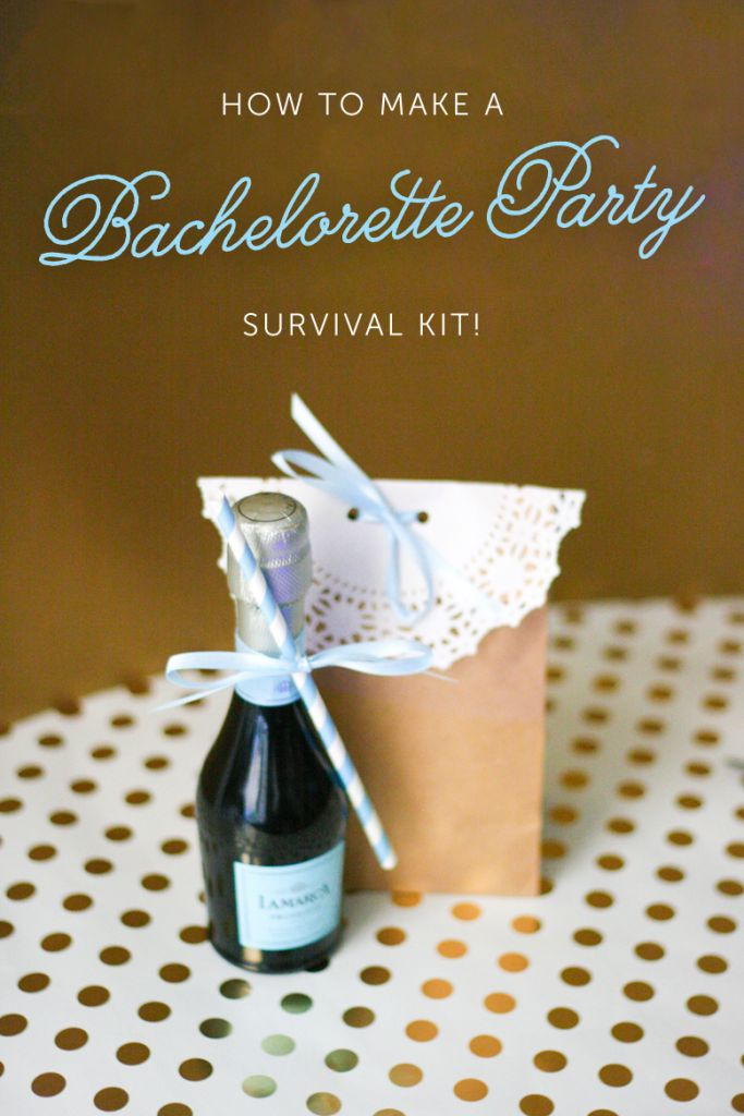 Learn how to make an inexpensive and cute Bachelorette Party Survival Kit! Your best girls are sure to appreciate it after a fun girl's night out!