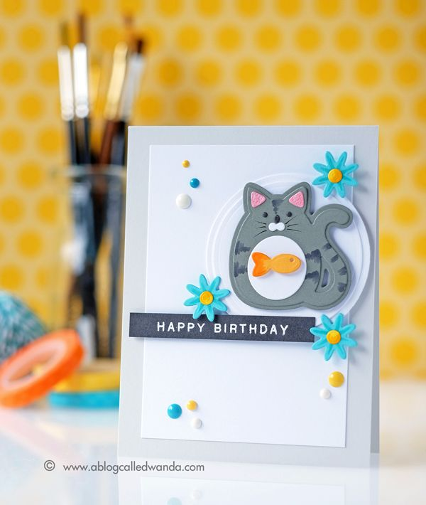 Happy Birthday Card by Wanda Guess for Papertrey Ink (April 2017)