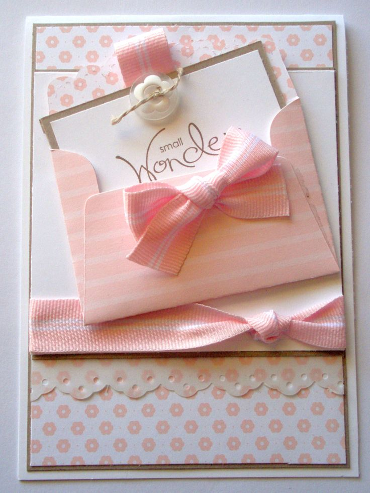 Scallop Envelope Baby Card