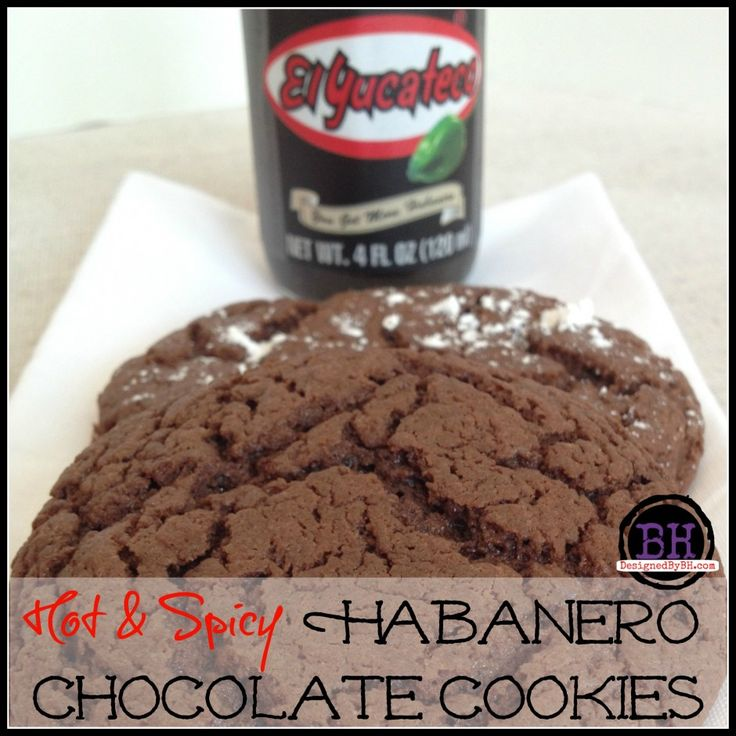 Hot & Spicy Habanero Chocolate Cookies - http://DesignedByBH.com - #Hot #Spicy #Habanero #Chocolate #Cookies #SauceOn #CollectiveBias #Shop