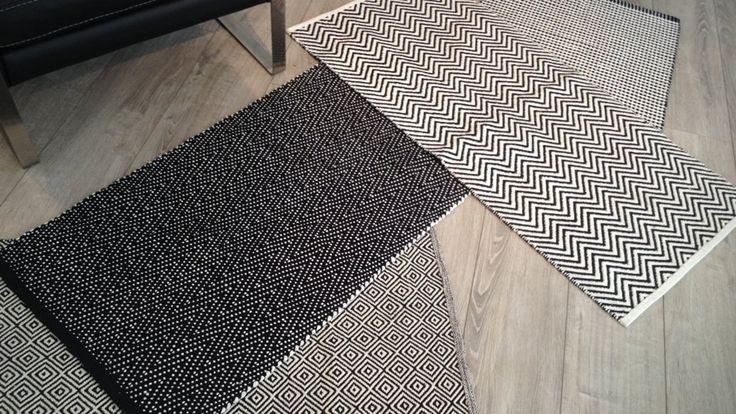 tapis graphiques noir et blanc conforama