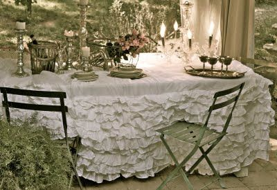 tablecloth from bedskirts