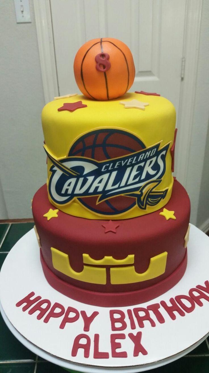Cavaliers Basketball Cake
