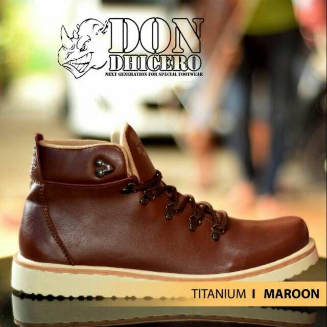 Dondhicero Titanium Original Sepatu Boot Pria Model Sepatu Boot