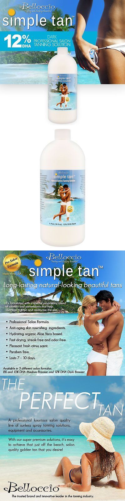 Sunless Tanning Products: Quart Belloccio Simple Tan 12% Dha Dark Sunless Airbrush Spray Tanning Solution -> BUY IT NOW ONLY: $31.42 on eBay!