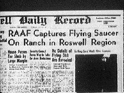 The Roswell Incident -- The most famous UFO crash in history occurred in 1947, on a ranch just outside of Roswell, a dusty New Mexican town.  The Real Story:  There was indeed a cover-up of what crashed outside Roswell, but authorities were hiding not a crashed alien saucer but a weather balloon from a secret spy program called Project Mogul.