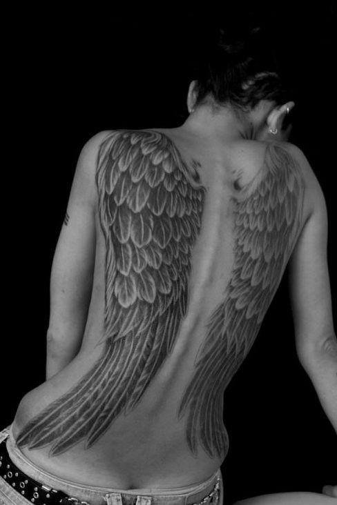 Tatuagem de asas (50 fotos)