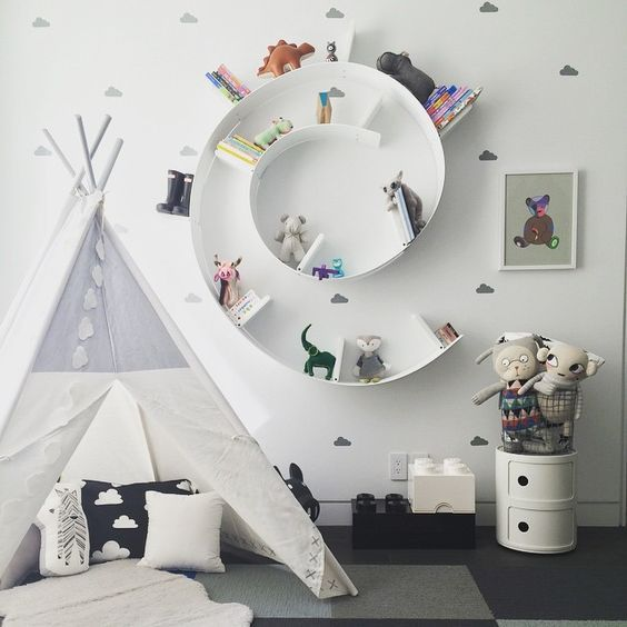 A child's room should be a place where dreams are inspired. Keep it creative and playful with patchwork patterns from FLOR and fun decor!