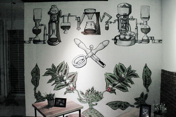 Ratio Mural Coffee Shop #coffeeshop #mural #coffeeprocess