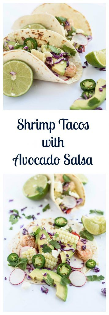 Shrimp Tacos with Avocado Salsa are the perfect weeknight meal or Cinco de Mayo party food! | Beer Girl Cooks