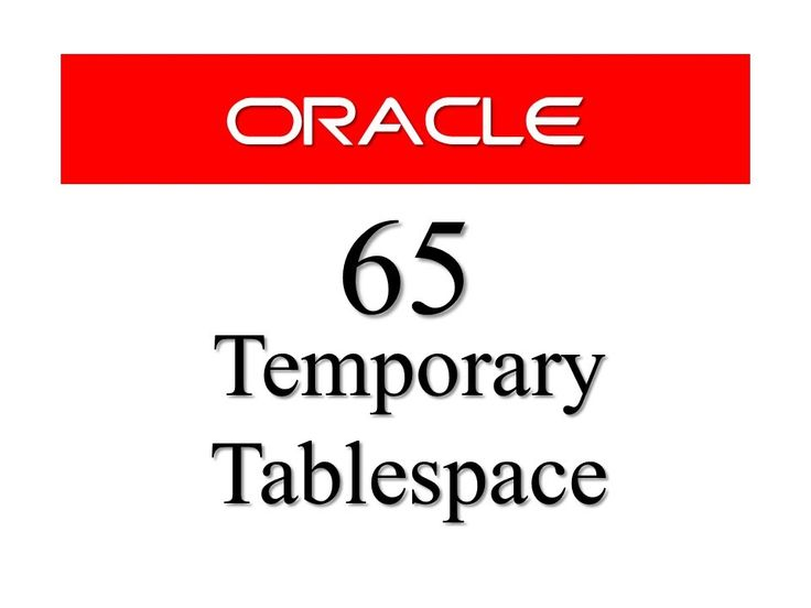Temporary Tablespace is one of the most important concept in database as it manages the temporary segments of the searching and sorting operation and improves the performance. Watch my latest tutorial and learn how to create a small file and big file temporary Tablespace in oracle database  www.RebellionRider.com