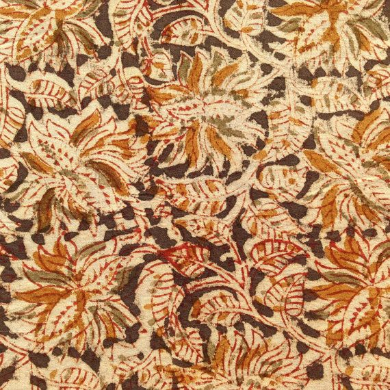Indian block print kalamkari fabric fabric from by UPGFabricAnnex