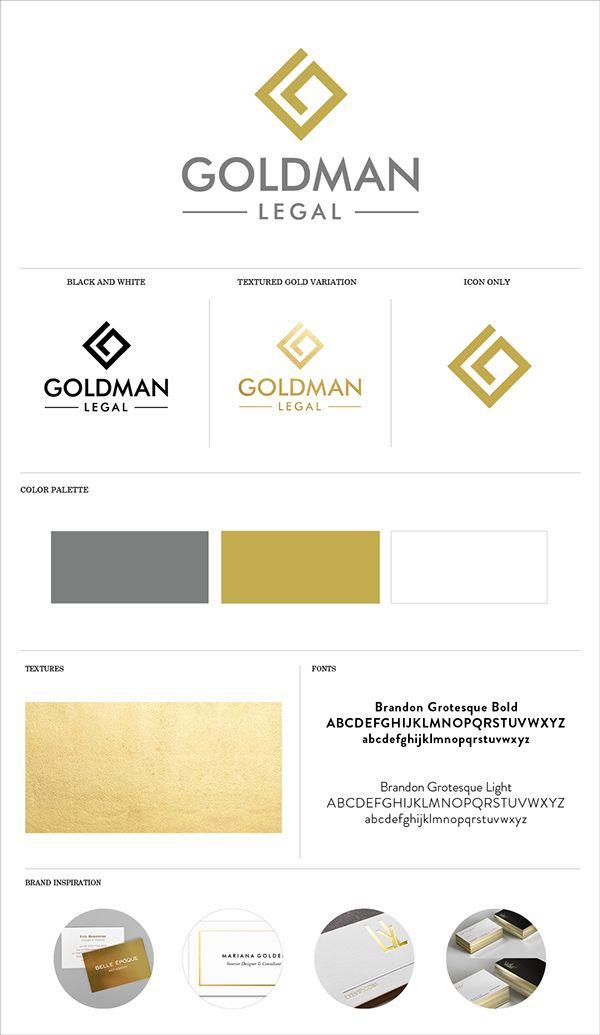 Brand Identity System for Goldman Legal in San Diego by Gretchen Kamp Design / Logo Design / Attorney Design / Law Firm Design