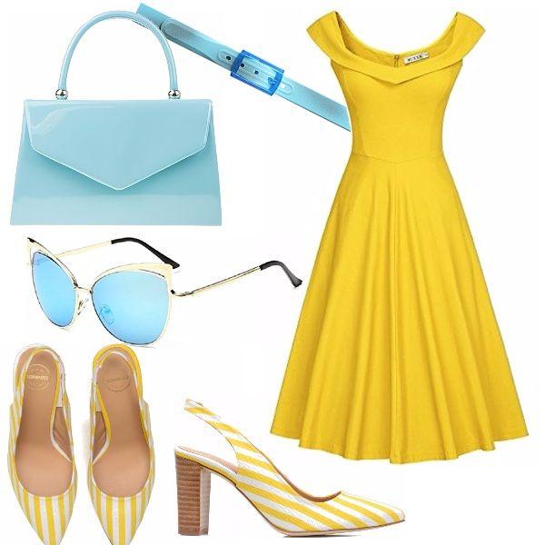 Immaginatevi sul lungomare di un borgo, quando il sole splende in cielo, con il vostro abito anni 50 giallo, una piccola borsa hard case, una cintura…