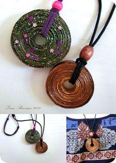 gioielli di carta arrotolata | Quilling - Beads su Pinterest | Perline Di Carta, Gioielli Di Perline ...