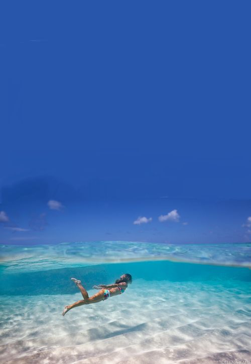 where in the world can you find such clear water? beautiful!