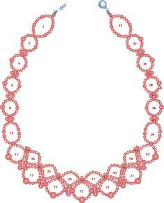 Free pattern for pretty necklace Sea Date.    To bead this necklace just follow the numbers of steps on the pattern       U need:       seed beads 100-110  pearl beads 3-4 mm  pearl beads 5-6 mm  - See more at: http://beadsmagic.com/?p=2751#more-2751