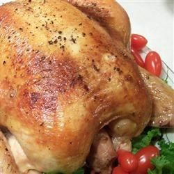 Just a simple chicken brine to help make the meat just a little more tender and juicy. This recipe was made for roughly a 6 pound whole chicken. GOOD