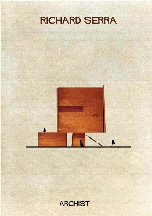 Illustrations of Famous Art Reimagined as Architecture   © Federico Babina