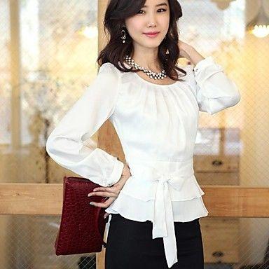 vrouwen koreaanse cultiveren professionele commuter chiffon blouse - EUR € 17.01