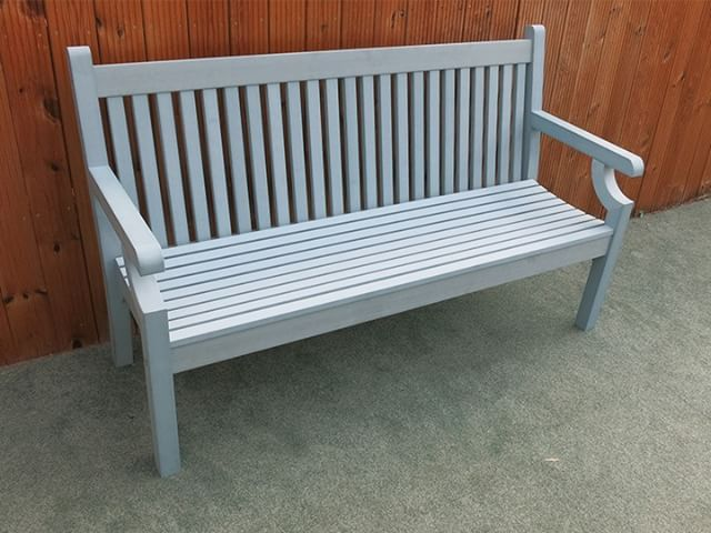 The New Blue Coloured Winawood Bench Brings Brightness To Your