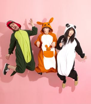 Japanese Kigurumi Onesie- I so wish someone would wear this to Marcus's surprise Birthday party!
