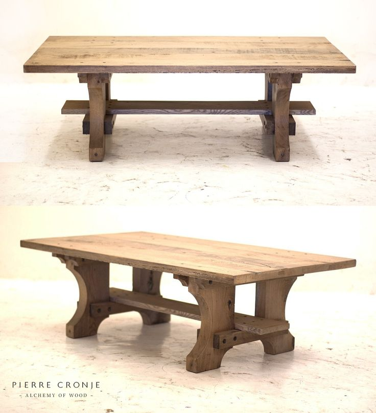 Pierre Cronje Zandloper Coffee Table in French Oak with a blackwash finish