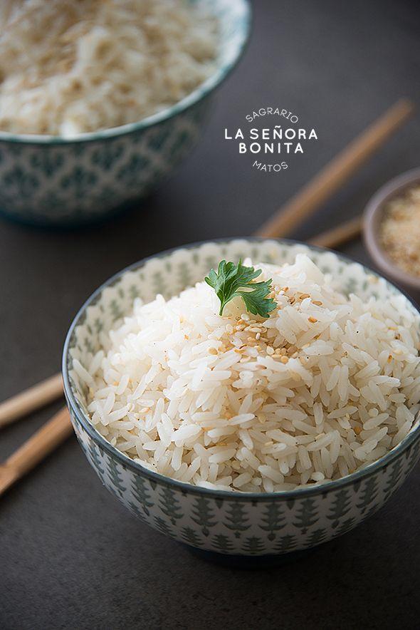 Deliciosa receta de Arroz con Coco con Semillas de Ajonjolí/Delicious and Easy: Rice with coconut and sesame seed