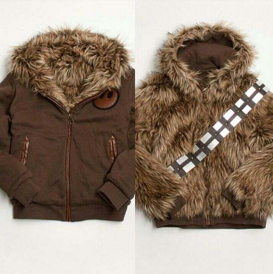 wookie-reversible-jacket - I so would give this to Aaron - okok, I'd probably wear it myself!