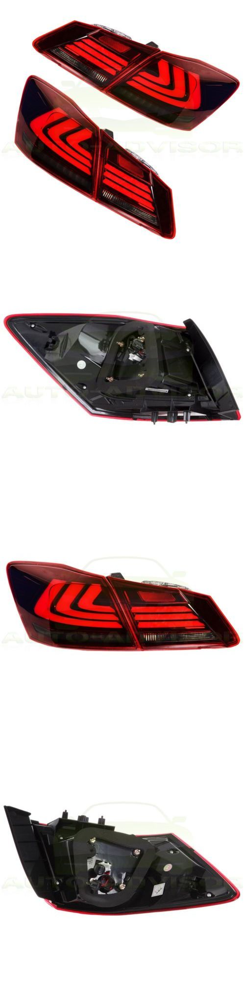 Motors Parts And Accessories: 2X Tail Lights Led Brake Rear Lamp For 2013 2014 2015 Honda Accord 4 Door Sedan -> BUY IT NOW ONLY: $318 on eBay!