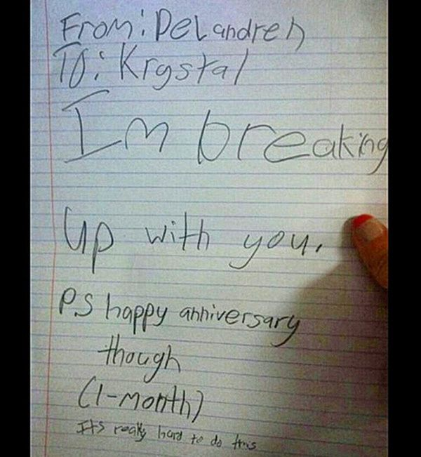 Is it ok that These Break Up Letters From Kids Are Just Awesome?