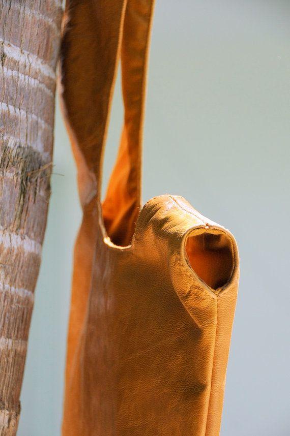 BOLSA. Pulsera de cuero / bolsa / pequeño bolso / cuero por BaliELF