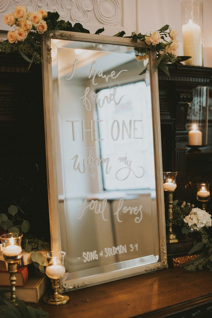Song of Solomon 3:1 wedding decor from this vintage romantic wedding in Vancouver | Image by Sara Rogers Photography