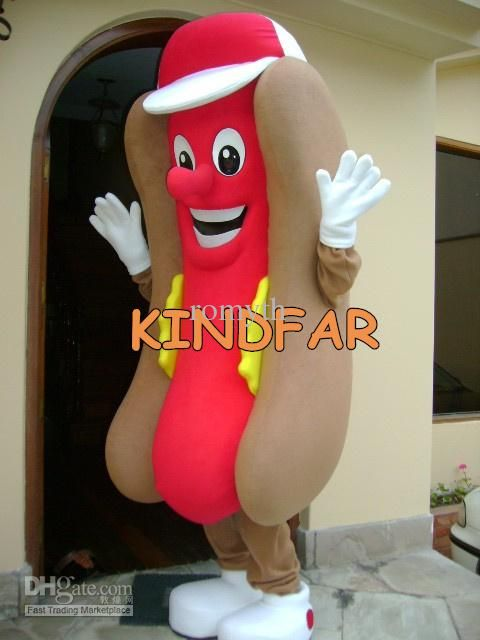 Online Cheap Hot Dog Hotdog Mascot Costume Adult Size Fancy Dress Cartoon Character Party Outfit Suit Free Ship By Romyth | Dhgate.Com