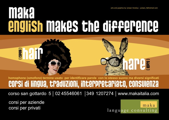 homophone: hair- hare, corsi di inglese a milano
