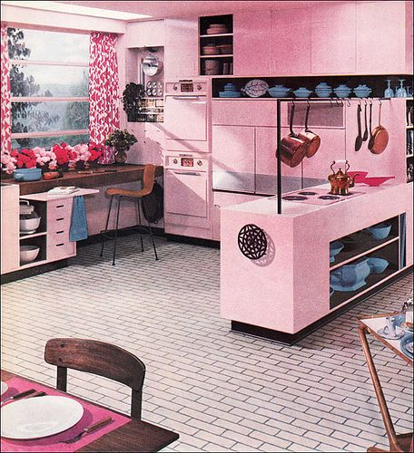 Mid century modern pink kitchen 1956  | Flickr - Photo Sharing!