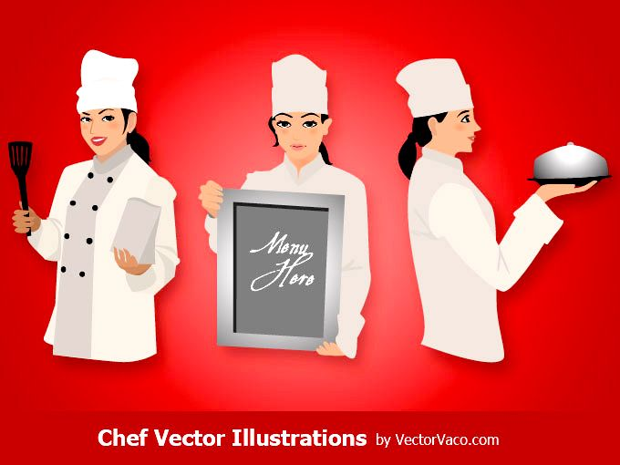 Woman Chef Image Free vector