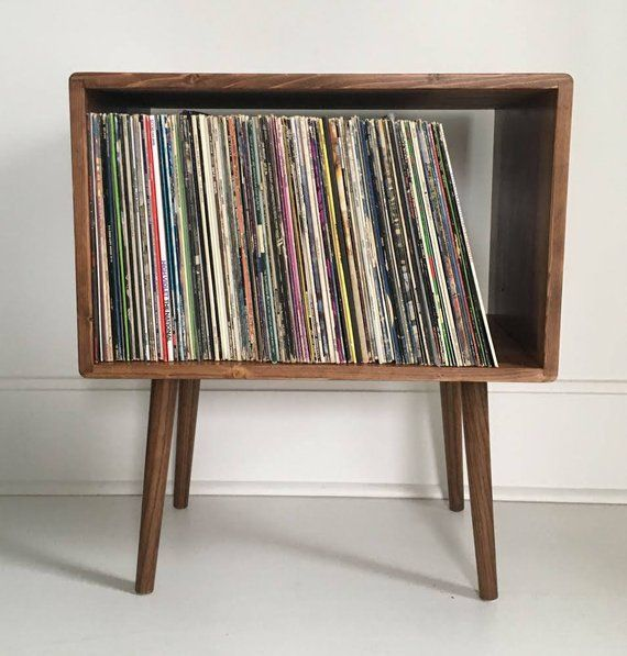 Mid Century Modern Record Player Stand Record Player Stand Record Player Modern Record Player